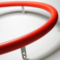 Накладка силиконовая на обруч 532-541мм, красная - 1шт.