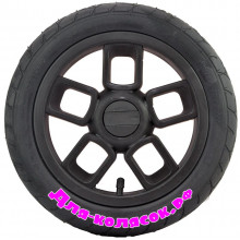 Колесо для коляски 12 дюймов 47-203 черное (007007)