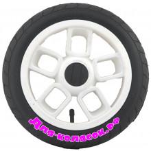 Колесо для коляски 12 дюймов 47-203 белое (007011)