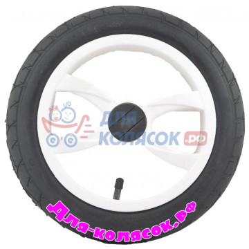 Колесо для коляски 12 дюймов 47-203 белое (007015)