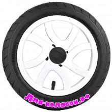 Колесо для коляски 12 дюймов 47-203 белое (007021)