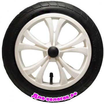 Колесо для коляски 12 дюймов 47-203 белое (005049)